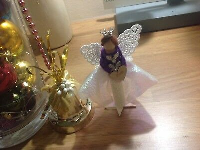 Peg fairy, ready to enhance your home, handcrafted by me