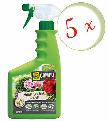 Sparset: 5 x COMPO Schädlings-frei Plus AF, 500 ml