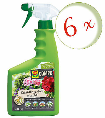 Sparset: 6 x COMPO Schädlings-frei Plus AF, 500 ml