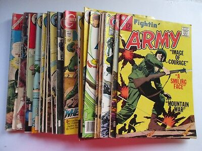 Lot Of 20 Charlton Bronze Age War Fightin Army Fightin Marines All Out War