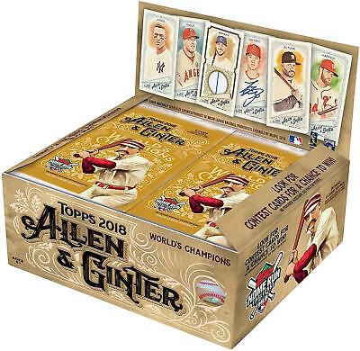 2018 Topps Allen & Ginter Baseball Cards Retail Display Box Plus More!