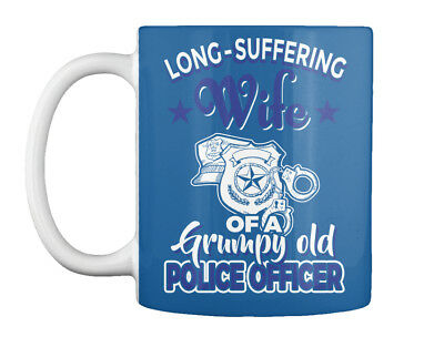 Long-suffering Wife Of A Police Officer - Grumpy Old Gift Coffee Mug