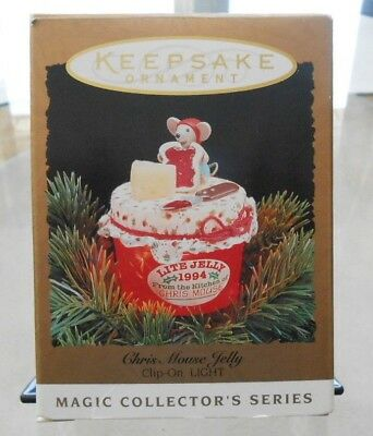 Hallmark Keepsake Magic Ornament  CHRIS MOUSE JELLY 1994
