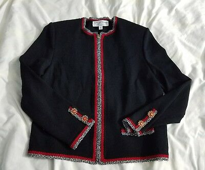 St.John Collection by Marie gray Ladies Jacket Size 8 full zip cardigan