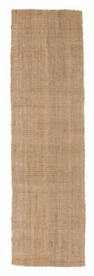NEW HAMPTON NATURAL BEIGE CHUNKY THICK JUTE FLATWEAVE FLOOR RUNNER 80x400cm