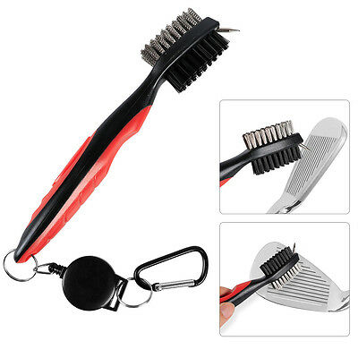 """Golf accessories Brush Club Groove Cleaner With 33"""" Retractable Clip Pack of 3"""
