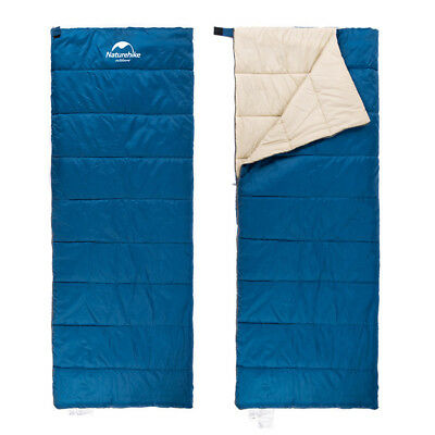 Single Envelope Sleeping Bag Lightweight Waterproof Travel Camping Hiking Blue