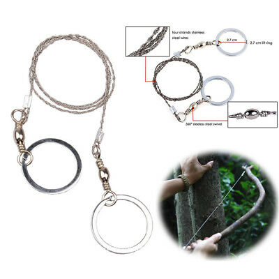 Top Emergency Survival Gear Steel Wire Saw Camping Hiking Hunting Climbing Gear