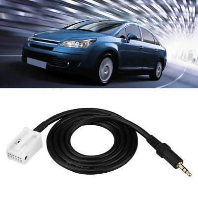 3.5MM AUX Audio Input Adapter Cable for Peugeot 307/408/RD4/RD43/RD45 Citroen