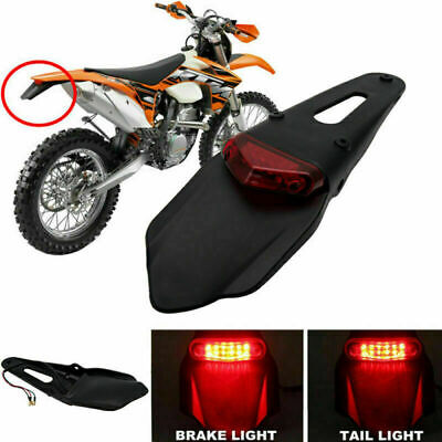 12V Motorcycle Enduro Rear Fender Red LED Tail Light Brake Stop Lamp ATV Bike GW