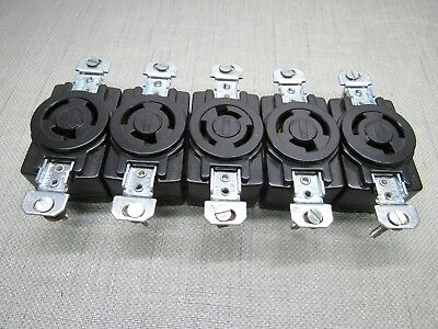 Bryant 7310-G 20A 125/250V Locking Receptacle Lot of 5