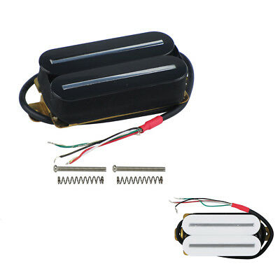 High Output Dual Hot Rail Humbucker Pickup For Electric Guitar Ceramic Black