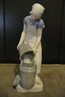 Vintage Bing and Grondahl (B&G) Figurine 2181 'Girl with Milkcan' by Axel Locher