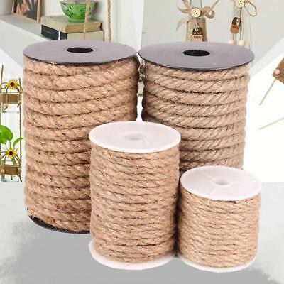 10 Meters Natural Brown Jute Hemp Rope Twine String Cord Shank Craft 4/6/8/10mm