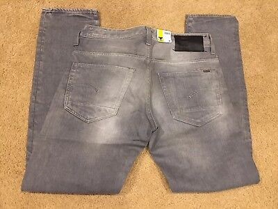 9fec4486 G Star Jeans 3301 Low Tapered 33x32 New With Tags Grey Dust Denim Light Aged