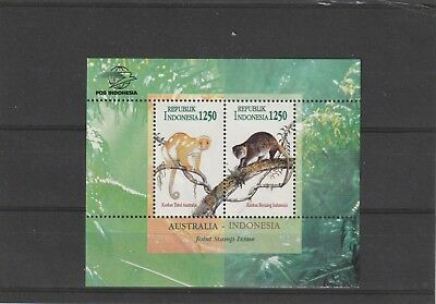 Indonesia 1996 Joint Issue with Australia Mini Sheet MNH