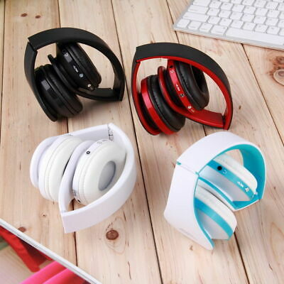 Wireless Bluetooth USB Noise Cancelling Stereo Sports Foldable Headphone w/ Mic
