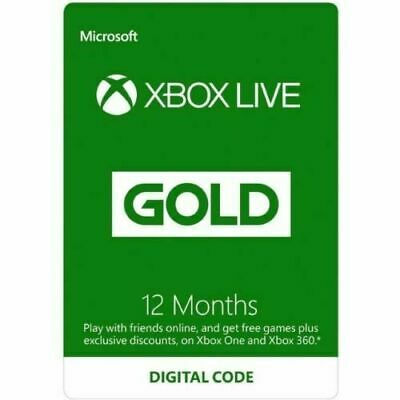 Microsoft Xbox Live Gold 12 Month Membership Subscription for Xbox One/360