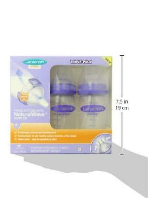 Lansinoh mOmma Breastmilk Feeding Bottle with NaturalWave Nipple Pack of 3 8