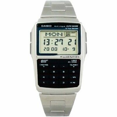 Casio DBC32D-1A Stainless Steel Data Bank Calculator Men's Watch