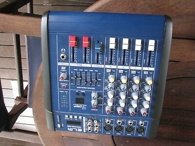 Powered Mixer.4 Mics input. Used had very little use . Original packing
