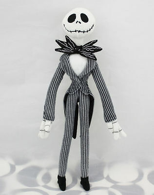 "20"" Disney The Nightmare Before Christmas Jack Skellington Poseable Plush Doll"
