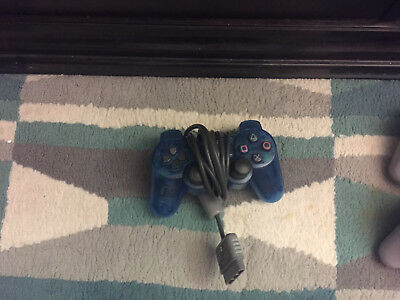 PLAYSTATION 1 SONY  PS1 - BLUE ANALOG CONTROLLER -  SCPH 1200 ORIGINAL Free Ship