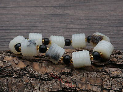 Chinese Exquisite Hand-carved Hetian jade Bracelets