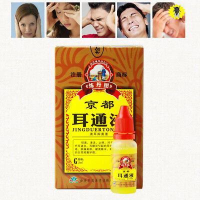 Ear Acute Otitis Drops Chinese Herbal Medicine for Ear Tinnitus Deafness Sore