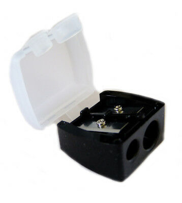 Dual Pencil Sharpener - Use for Slim + Jumbo Chunky Pencils + with cover no mess
