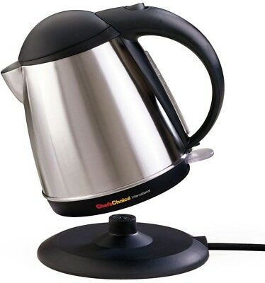 56 oz. Cordless Electric Kettle w/ Illuminated Switch and Safety-Lock Lid Opens