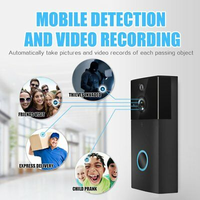 Smart Video Wireless WiFi Door Bell IR Visual Camera Record Security System B1