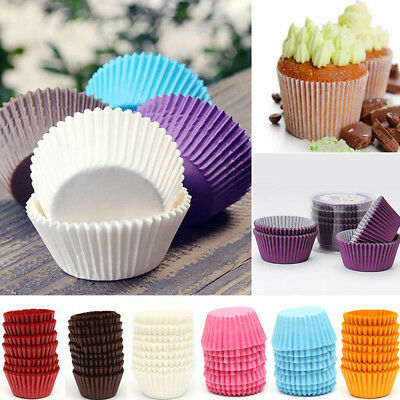 Round Baking Paper Cupcake Cup Aluminium Foil Muffin Baking Cups Liners Case Acc