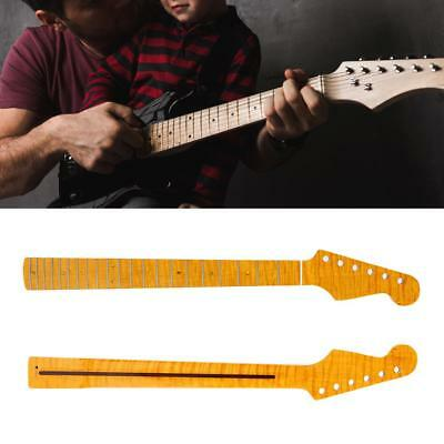Delicate Yellow 21 Fret Curly Maple Electric Guitar Neck DIY for Guitarists Gift