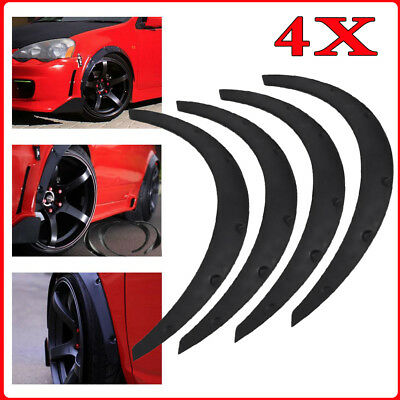 Universal 4pcs Car Fender Flare Extension Wheel Eyebrow Arch Trim Protector Lip