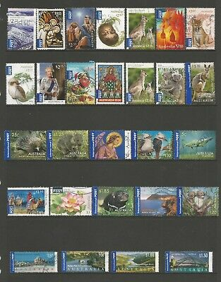 28 Australian International Post stamps including self adhesive used 2