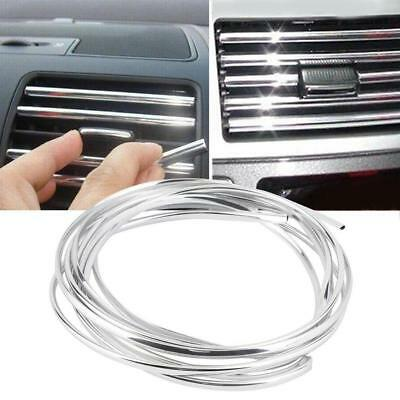 Car U Style Chrome Air Conditioner Outlet Vent Trim Decor Strip Auto uk*oc