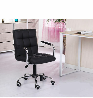 New Office Home Chair Swivel Padded Adjustable Computer Chair Black Furniture