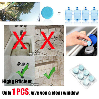 6X High Effeient Car Windshield Glass Cleaner Concentrated Solid Washer Tablet