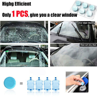 6x Auto Windshield Glass Washer Window Cleaner Safe Compact Effervescent Tablets