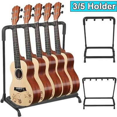 NEW! 3/5 Way Multi Guitar Rack Holder Stand Electric Acoustic Bass