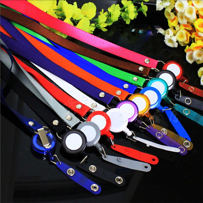 Retractable Lanyard Neck Strap Badge Holder Credit Card ID Holders Name Card