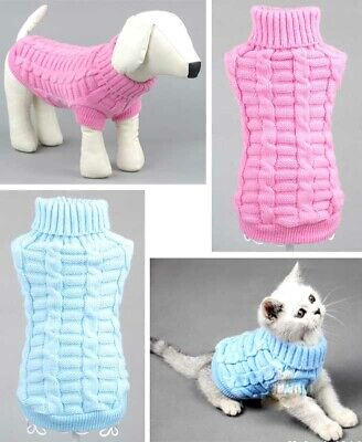 Knitted Dog Cat Sweater Chihuahua Clothes Winter Knitwear Pet Puppy Jumper