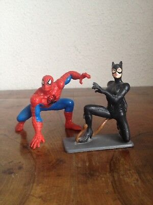 Marvel Comic Figur Spiderman und Catwoman 6,5 cm