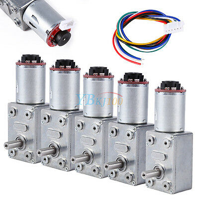 10-100RPM DC 12V Gear Box High Torque Geared Motor Reduction Motor with Encoder