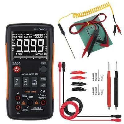 ANENG Q1 True-RMS Digital Multimeter Button 9999 Counts with Analog Bar Graph J