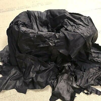 2kg of Black Quality Genuine Leather Off-cuts /Remnants /Pieces