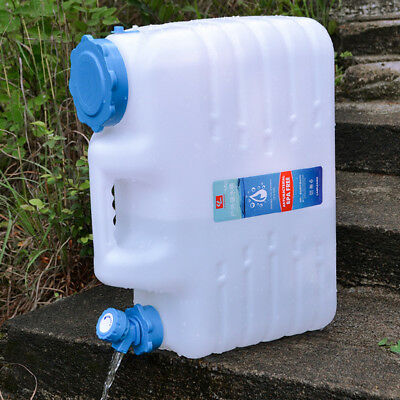 5 Lt  Water Jerry Can Plastic Camping Storage Container White with Pourer
