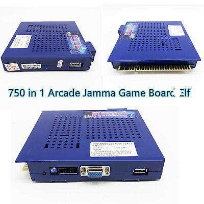 One pc 750 In 1 Game Elf  POWER PCB Arcade JAMMA Game Board CGA/VGA Output MAME