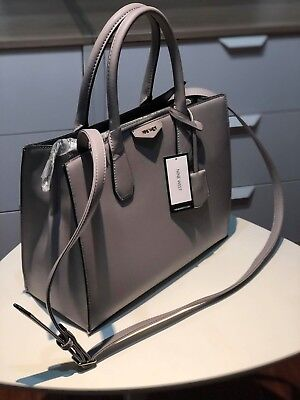 53a1a2c7c NWT AUTHENTIC NINE West Maddol Tote Ash Gray - $70.00 | PicClick